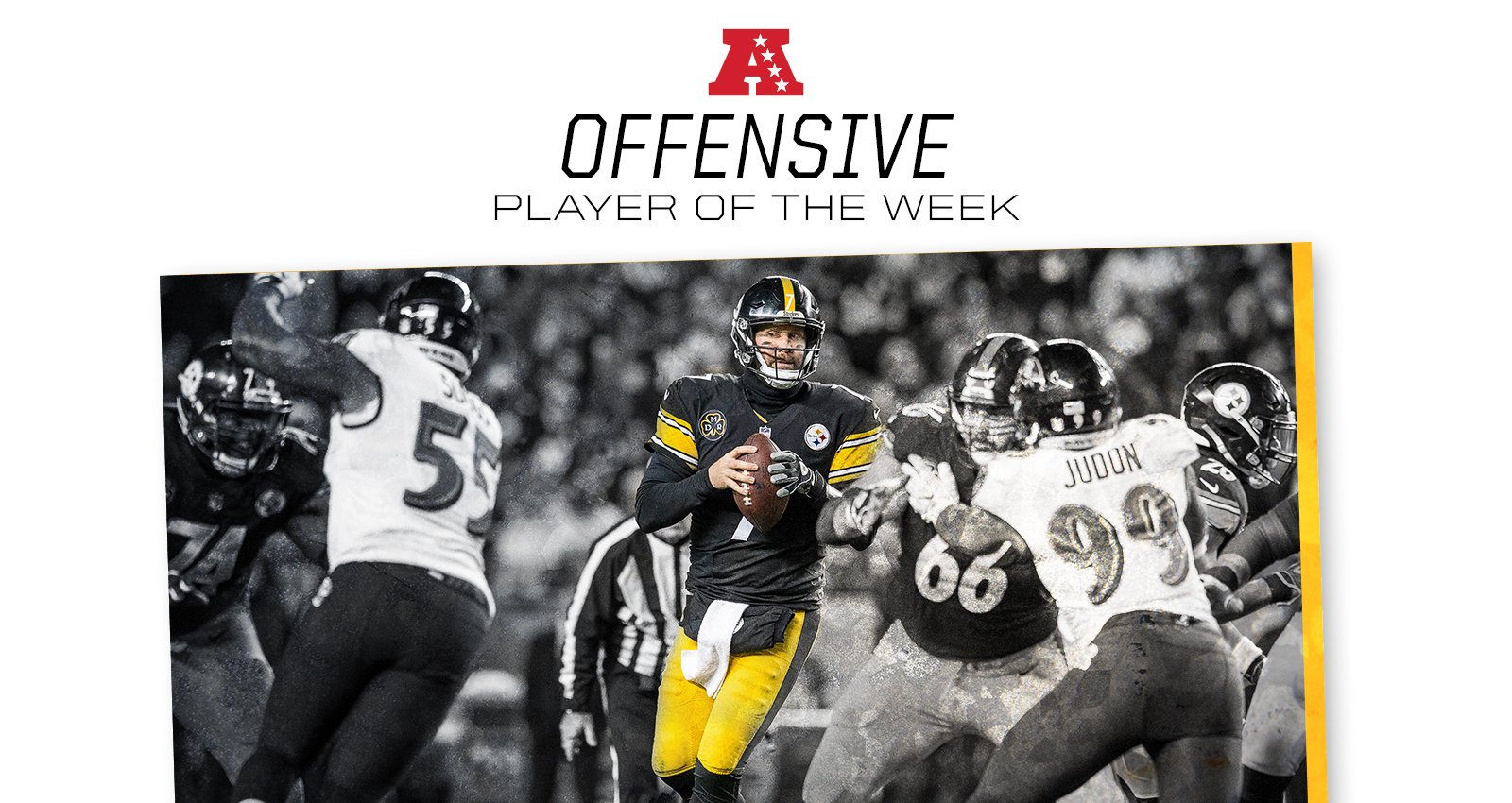 Ben Roethlisberger has been named AFC Offensive Player of the Week. #ProBowlVote  MORE: https://t.co/s7ydOfH9kR https://t.co/polvAe7rRf