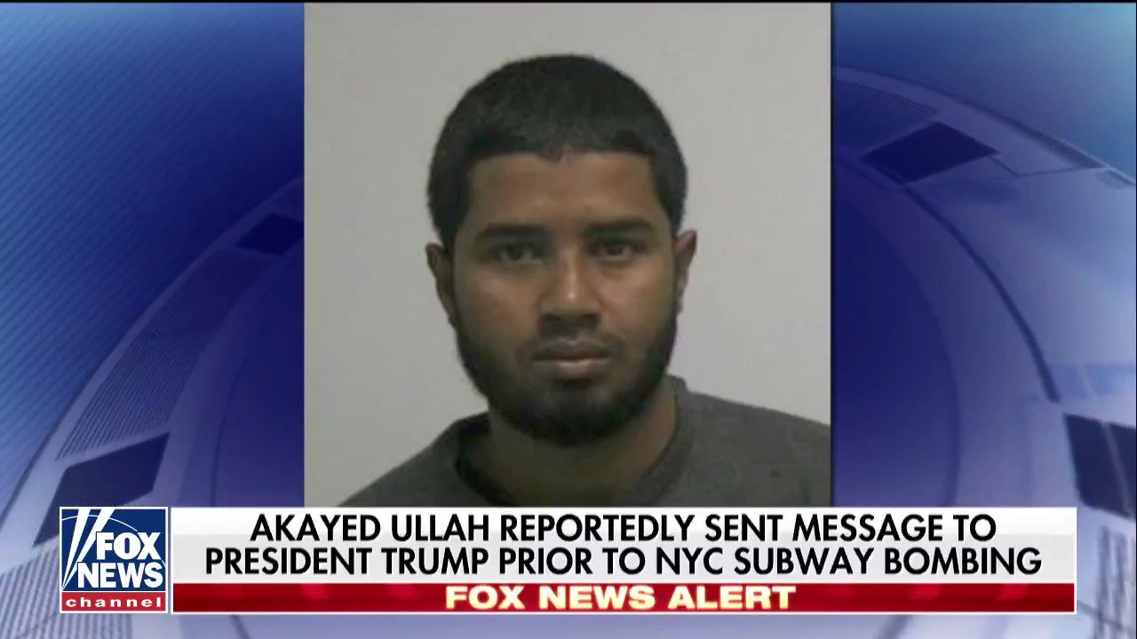 Akayed Ullah reportedly sent message to @POTUS prior to NYC subway bombing. https://t.co/wZSHBsHvol https://t.co/kx0QuCvfW1