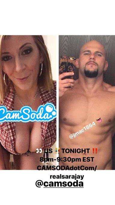 Watch👀 me tonight #LIVE in 5! 😈👅💦 on #Camsoda  @camsoda with #jmac 😻🍆💦 8:00-9:30pm 👉👉👉 EST https://t