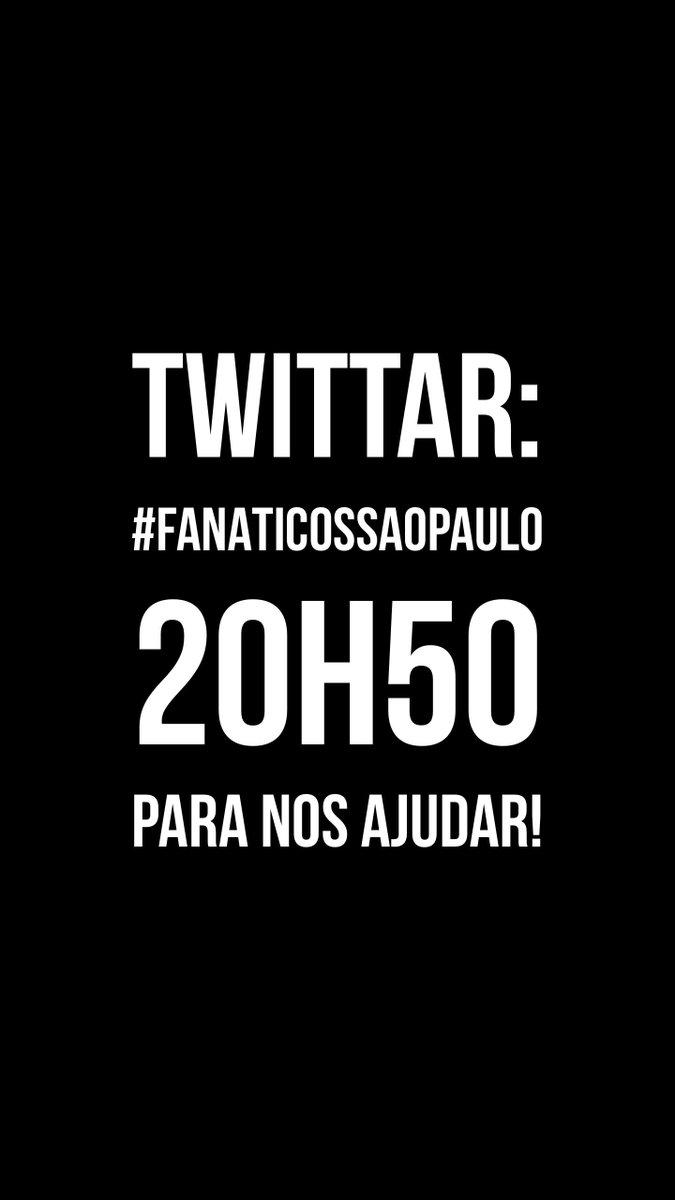 RT @danielperrone: Atenção!!! #FanáticosSãoPaulo 20h50 https://t.co/wflky08Ib9