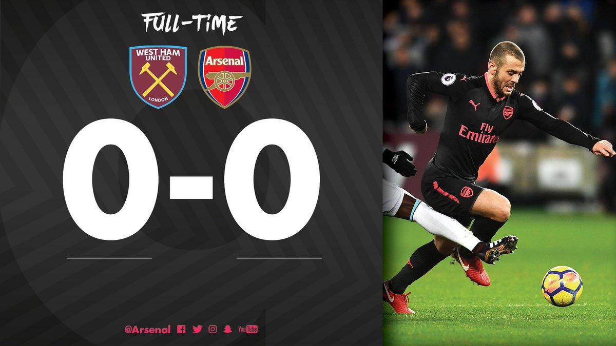 RT @Arsenal: It finishes goalless in east London  #WHUvAFC https://t.co/6vt6yB5k7H