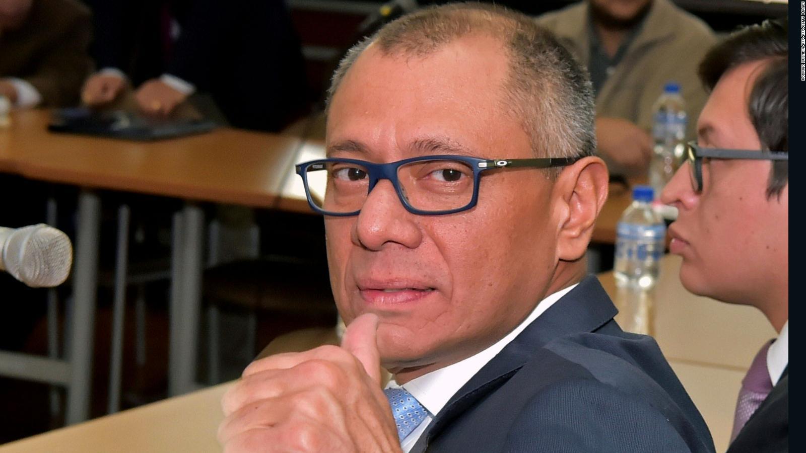 Sentencian a 6 años de prisión al vicepresidente suspendido de Ecuador Jorge Glas https://t.co/NUgBJrTgfZ https://t.co/eIo3Hi12a7
