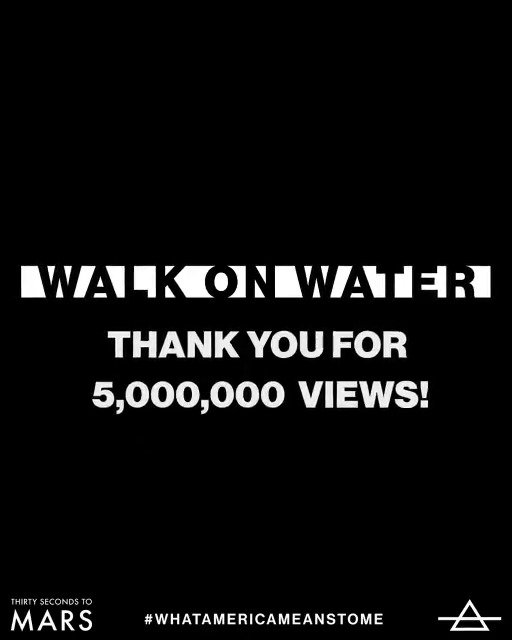 #WalkOnWater just hit 5 MILLION VIEWS on @YouTube!!! Thx for the support! ���� https://t.co/Hx5TclE5zK