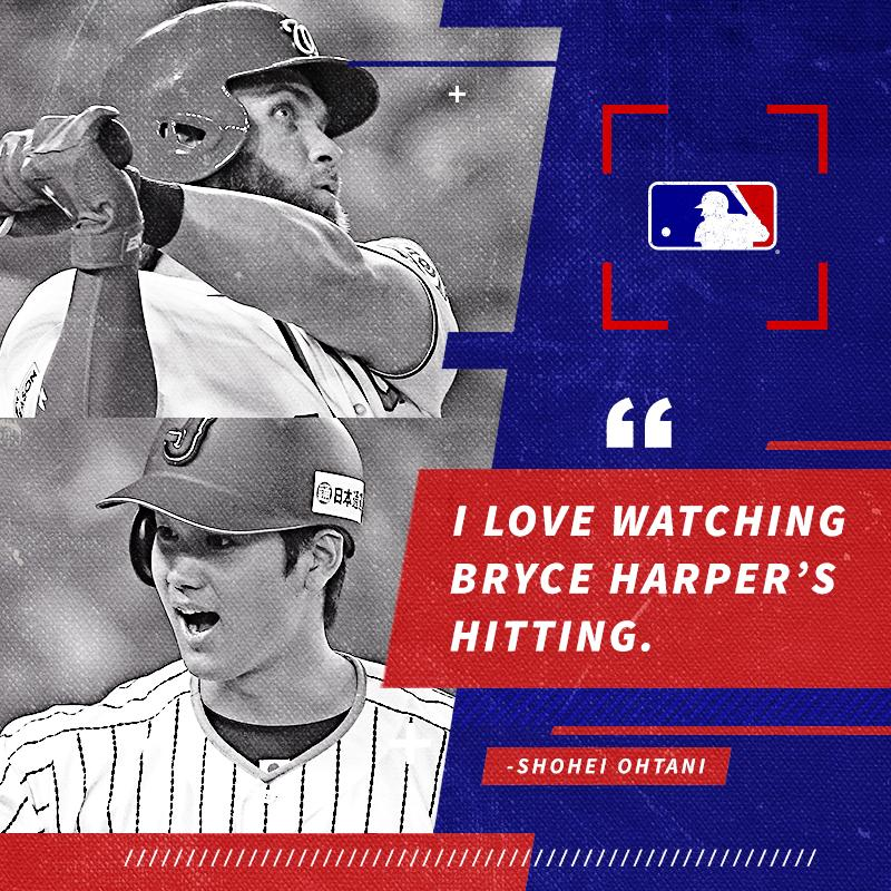 You love Bryce. We love Bryce. Ohtani loves Bryce. https://t.co/CSzcEb6hFe