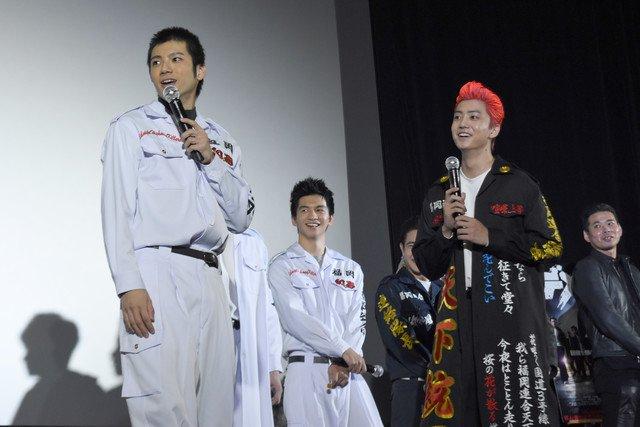 健太郎と山田裕貴がカップル成立?「デメキン」キャストが特攻服姿
