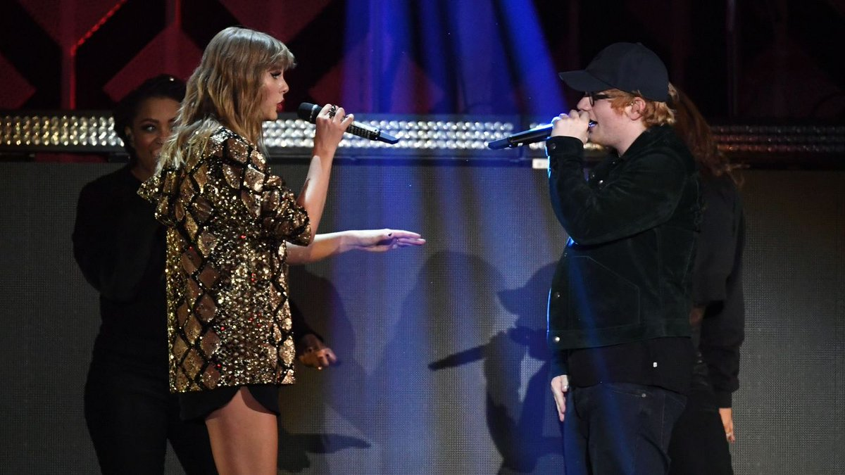 Taylor Swift And Ed Sheeran Were Clearly Stoked To Perform 'End Game' Together