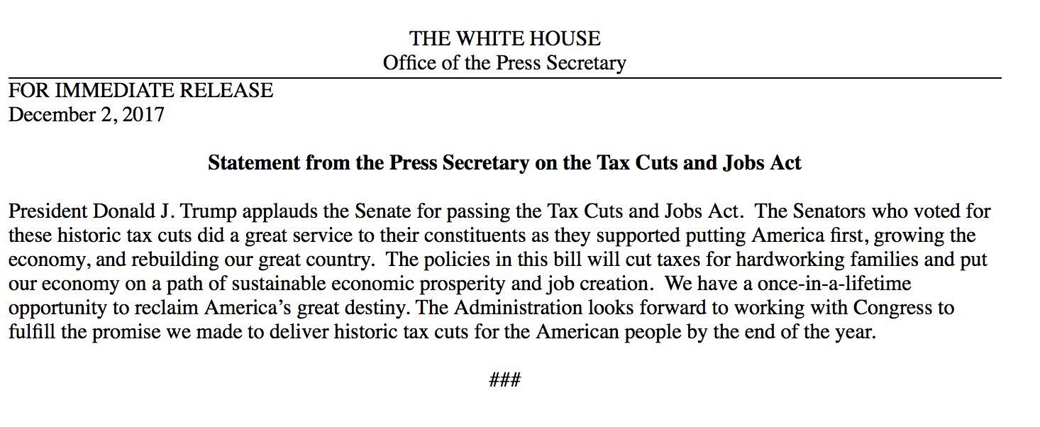 Passing Tax Cuts and Jobs Act presents a once-in-a-lifetime opportunity to reclaim America's great destiny https://t.co/mt4INvq27b