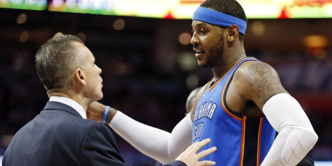 A Rift May Already Be Forming Between Carmelo Anthony And Head Coach Billy Donovan  https://t.co/i5p6iBwh2q https://t.co/MrhpQzMBrS