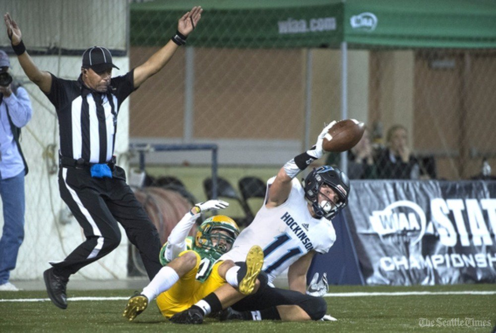 test Twitter Media - Trick play sews up Hockinson's 35-22 win over Tumwater for the Class 2A state football title, a first for the Hawks. #wafbscores   https://t.co/wooecGrD30 https://t.co/ky013pEZzy