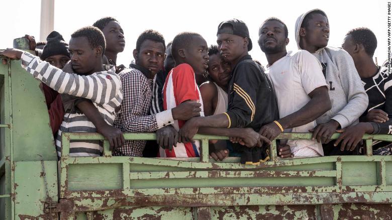 Hundreds of migrants stranded in Libya are returned to Nigeria