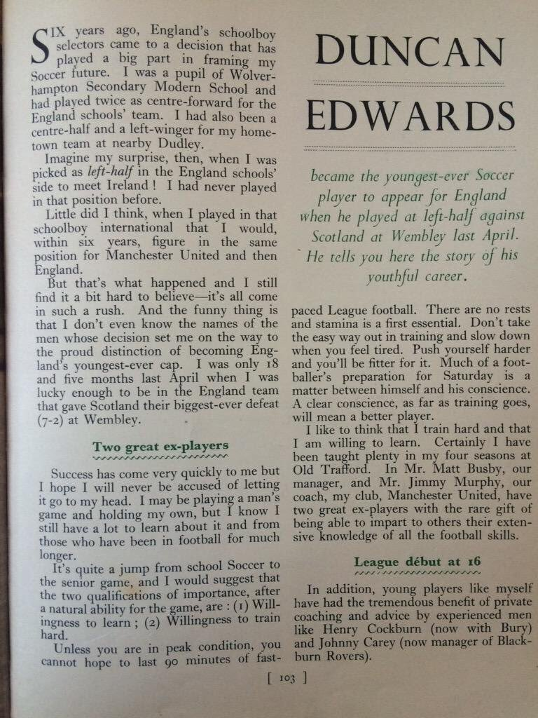 Duncan Edwards tell his own story  Click here to see what others said about him  https://t.co/BED7XZ4nmB https://t.co/IbDTih3XKl