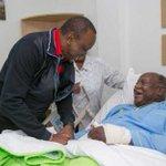 President Uhuru visits multiparty crusader Matiba in hospital