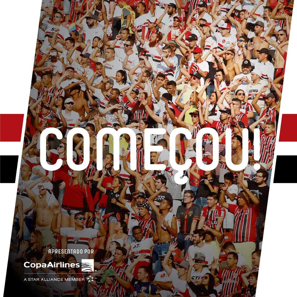 RT @SaoPauloFC: Bola rolando! Começou o jogo no Morumbi: São Paulo x Bahia #VamosSãoPaulo! https://t.co/Bp9fTWtCOT