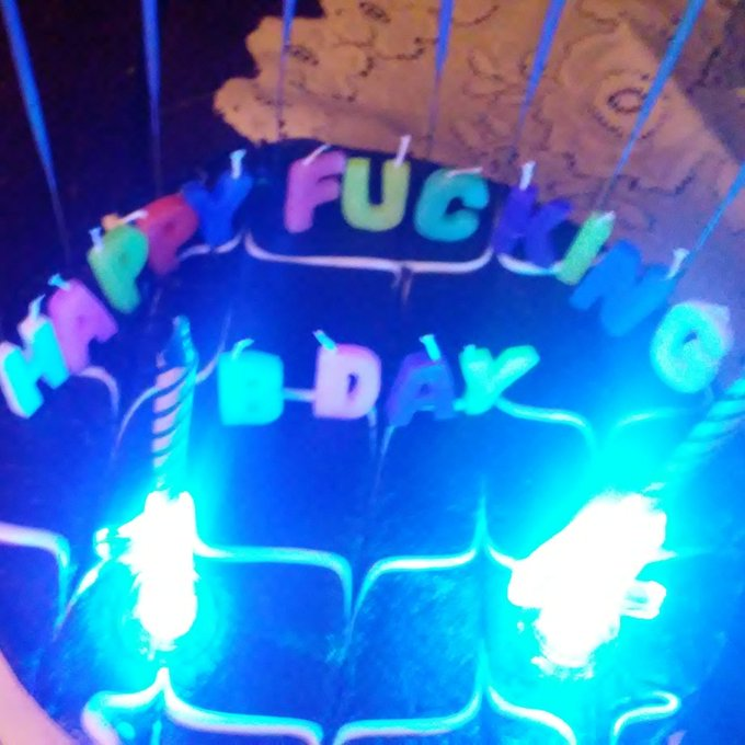 Inappropriate but funny! He loved it and took a pic of his cake. Happy birthday Bob, love you little man!