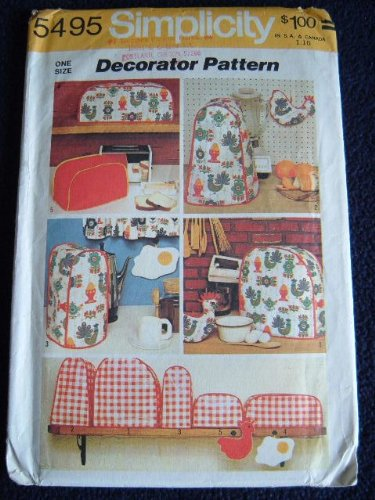 SIMPLICITY DECORATOR PATTERN 5495 - VINTAGE 1972 APPLIANCE COVER PATTERN - https://t.co/EL1vnl66uQ https://t.co/yY2bhNy0KL
