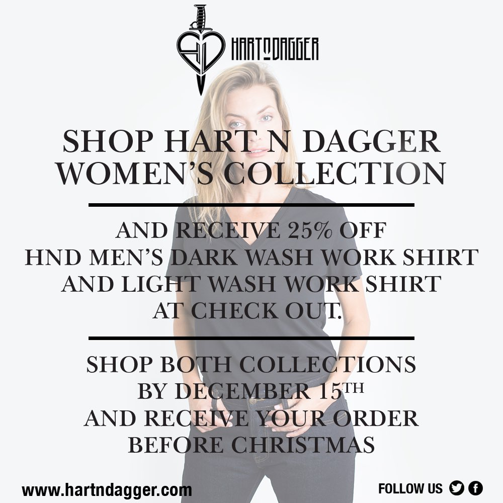 Shop our Women's Collection today and receive 25% off our denim workshirts. Today only! https://t.co/t3baoNsYlb https://t.co/V6Icq7Mnj7