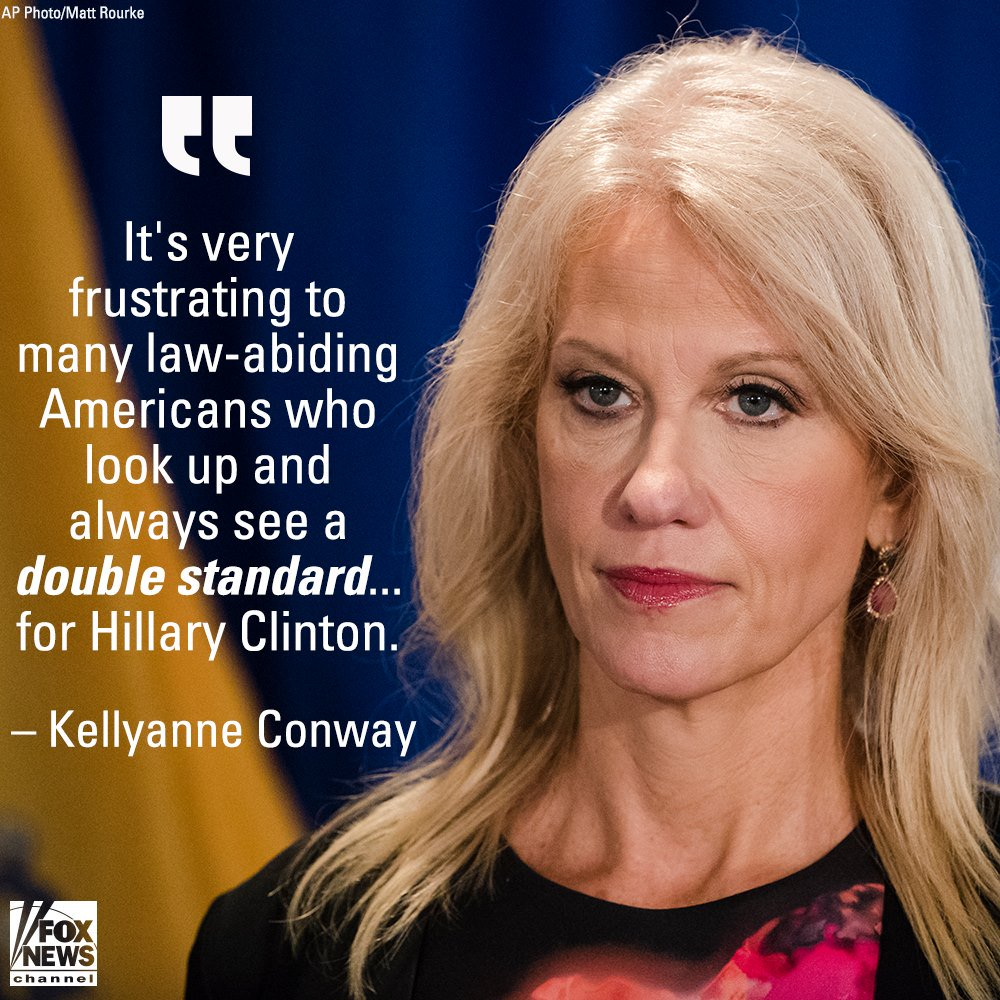 Conway on Allegedly 'Tainted' FBI Agent: Americans Frustrated by Clinton Double Standard