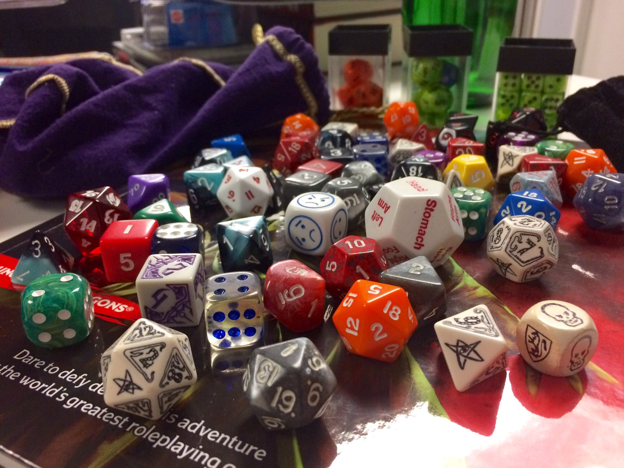Celebrating #NationalDiceDay with some old friends. Show us your dice! https://t.co/dOegHZjM6T