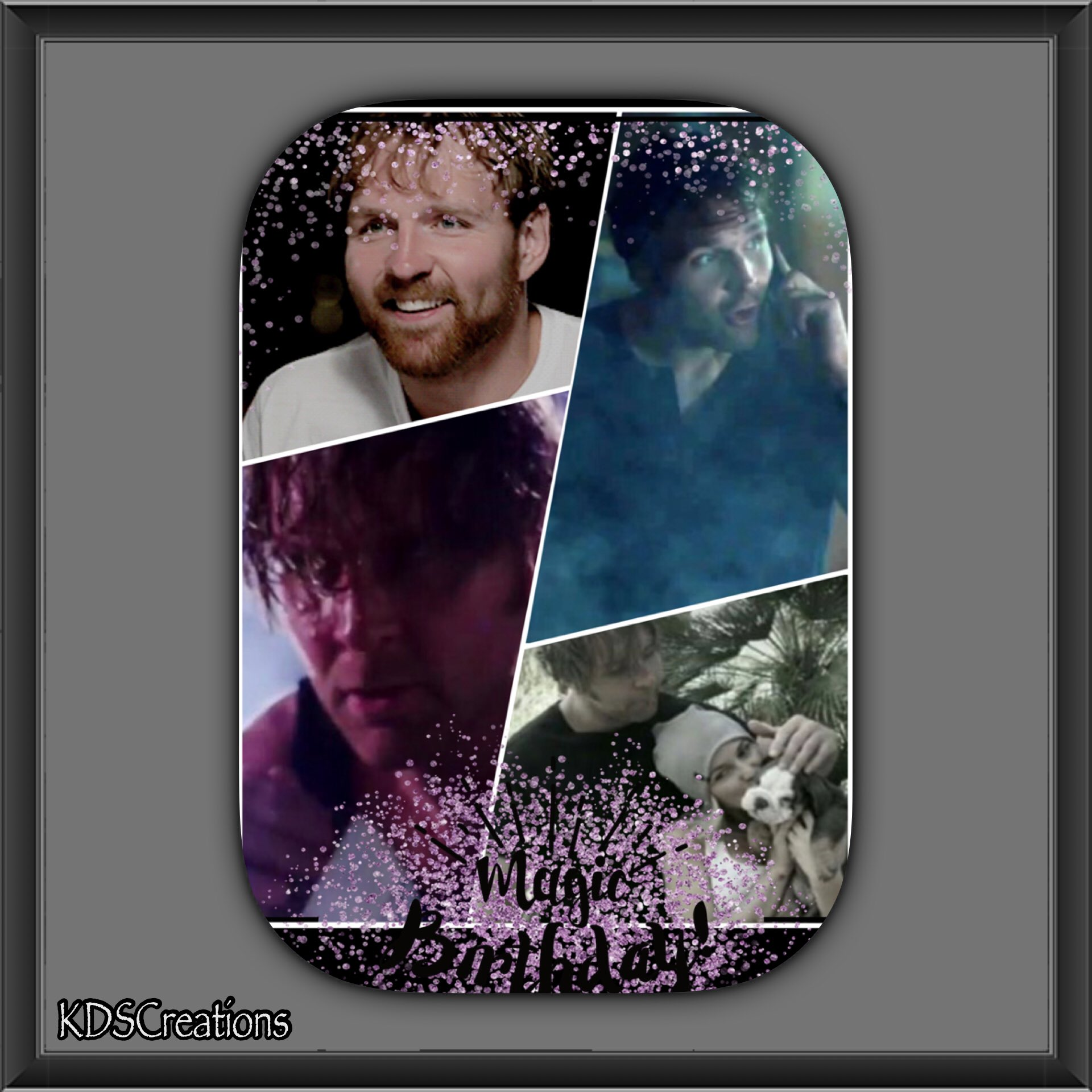 in celebration for his birthday on Thursday. Happy early 32nd Dean Ambrose.