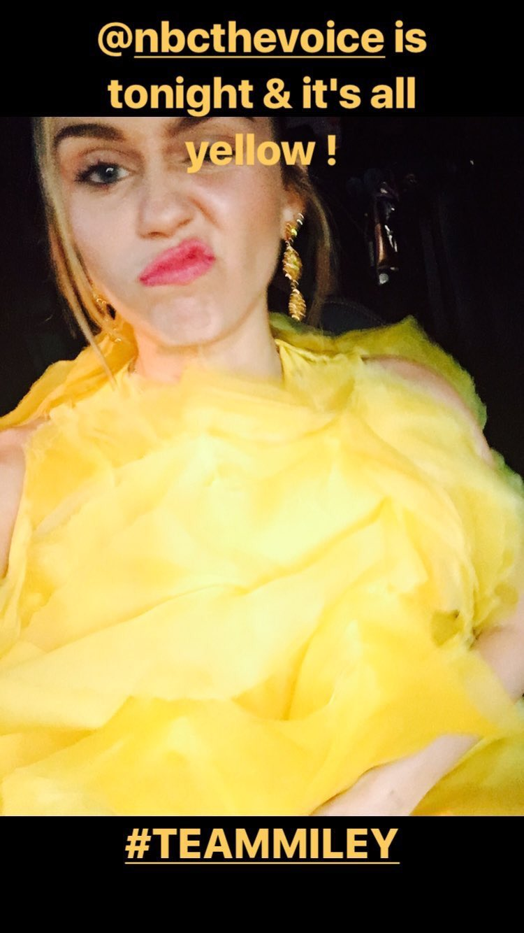 .@NBCTheVoice is tonight & it's all yellow !   #TeamMiley https://t.co/0rJaK5qJAI