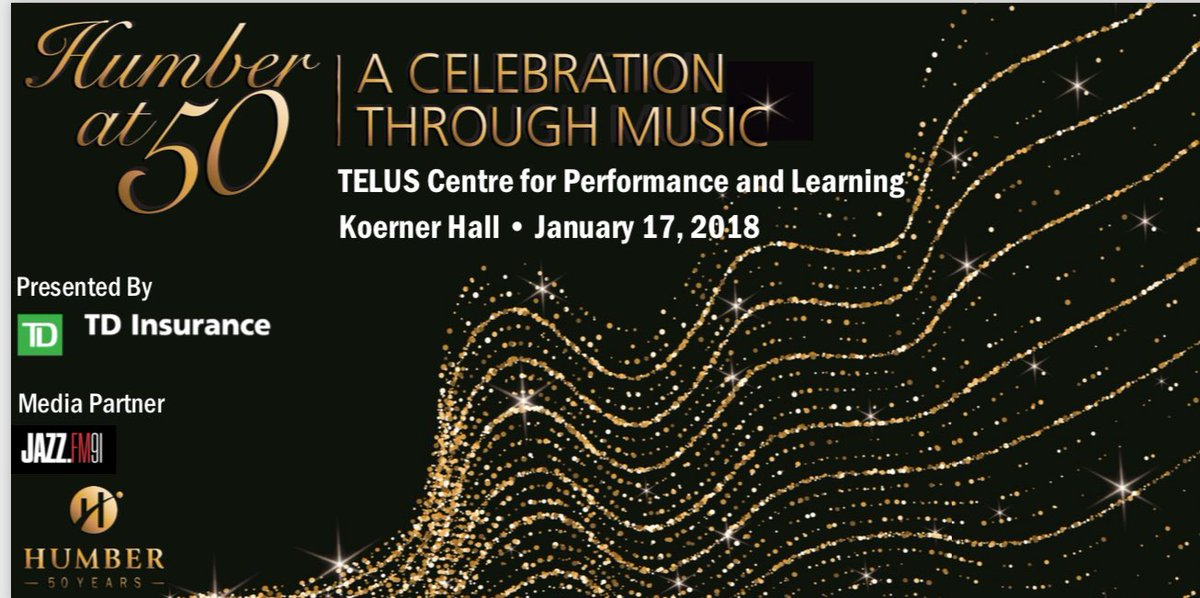 Our Humber at 50 concert finale has been rescheduled and 2018 can't come soon enough. Thx to presenting sponsor @TD_Insurance #Humber50 #Amazing50 https://t.co/N34rkSDqDF