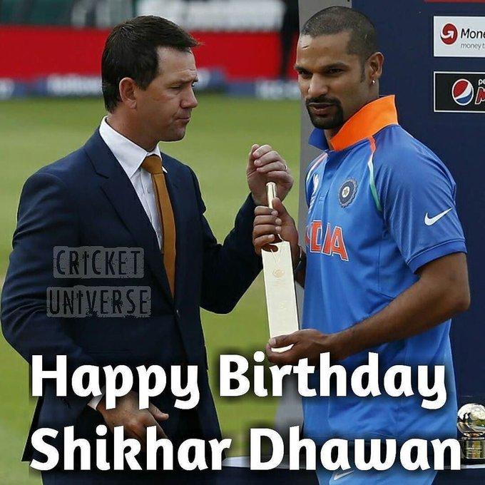 Wishing Shikhar Dhawan a Very Happy Birthday!
