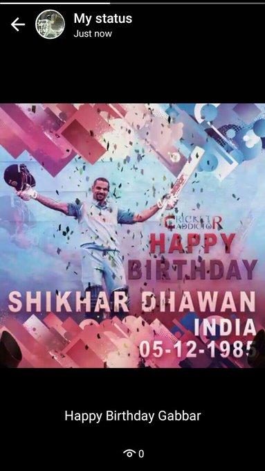 Happy Birthday Sir Shikhar Dhawan