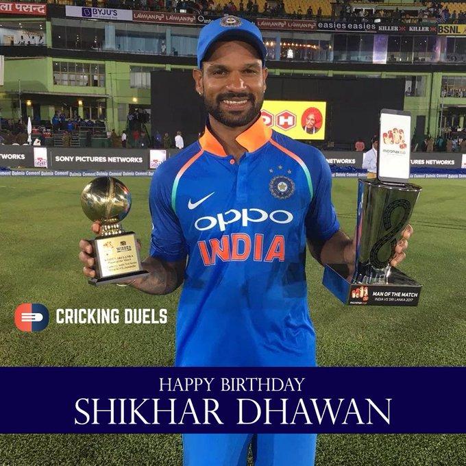 Happy birthday, Shikhar Dhawan.