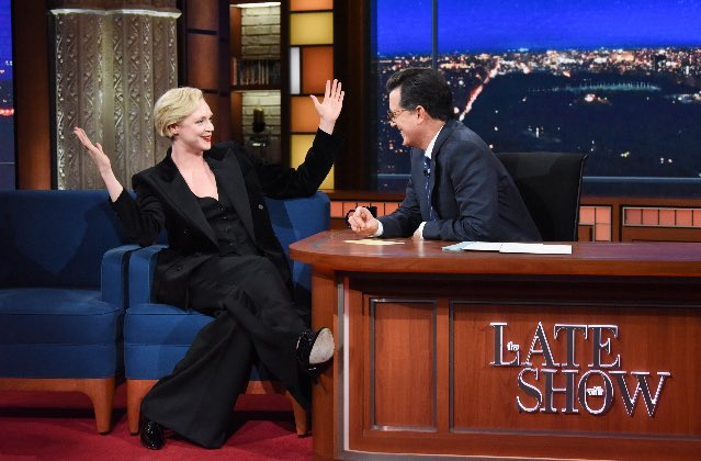 TONIGHT I do GYMNASTICS on the @colbertlateshow @StephenAtHome - thank you for having me ????❤️ https://t.co/pfoJnHsPWv