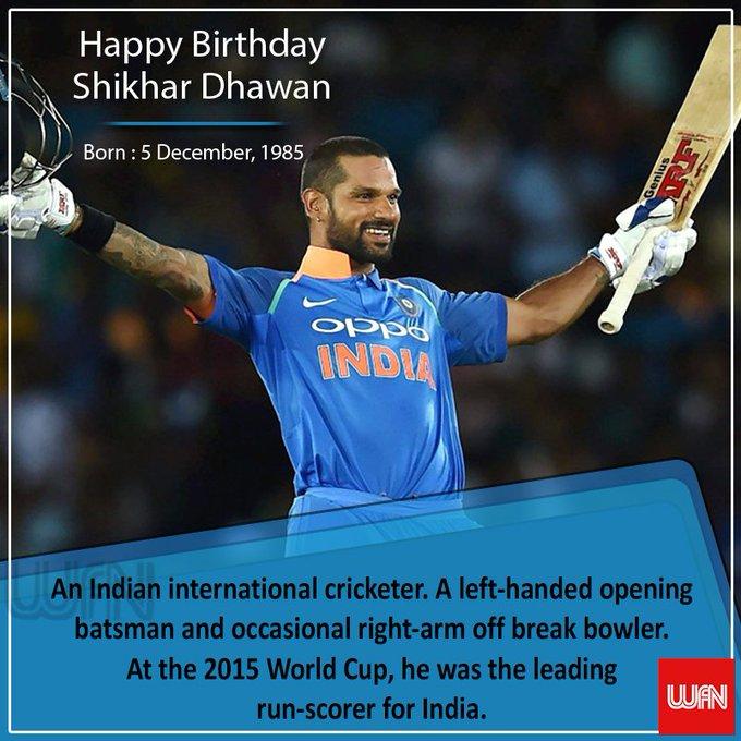 Wish you a very happy birthday Shikhar Dhawan