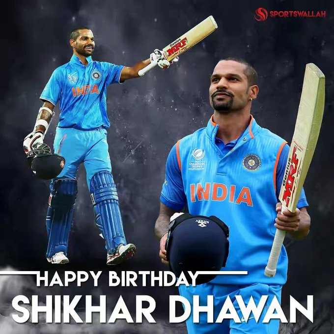 Shikhar Dhawan ko Happy Birthday