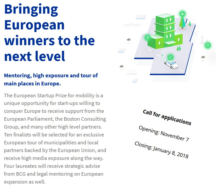 test Twitter Media - The European Startup Prize @EuStartupPrize 🚀 for #mobility is a co-funded initiative of the European Parliament @Europarl_DE, which will give the opportunity to 10 #startups to #pitch their services! Apply now: https://t.co/cCiFyIcRAd  @KarimaDelli  @BCG  @via__id https://t.co/ds2Yrm56Ra