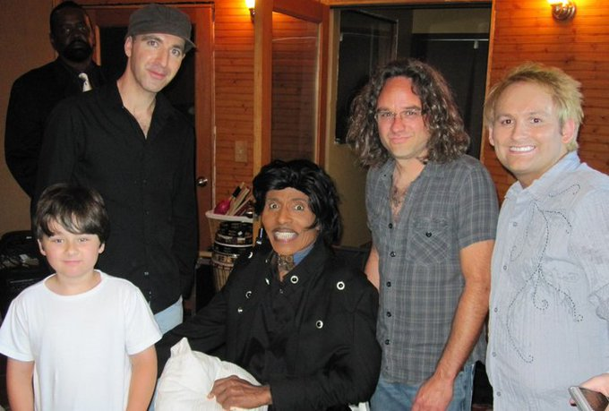 Malcolm enjoys studio time with the legend that is.. Happy 85th Birthday Little Richard XO