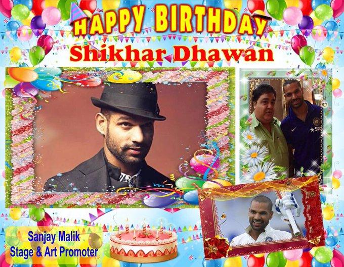 May mata rani bless you happy birthday shikhar dhawan