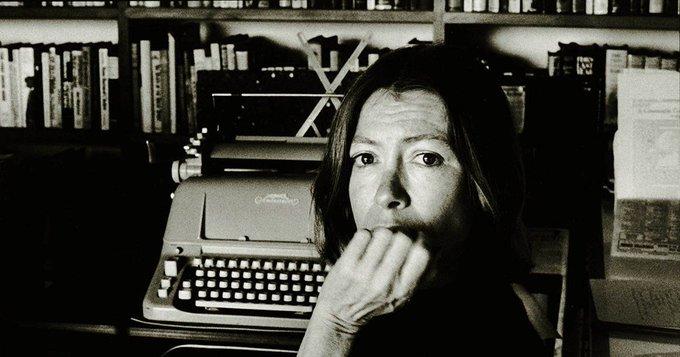 Happy birthday, Joan Didion, born today in 1934.