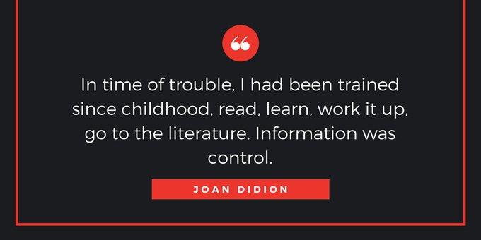Happy birthday, Joan Didion!