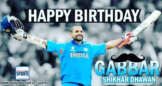 Happy birthday Gabbar Shikhar dhawan
