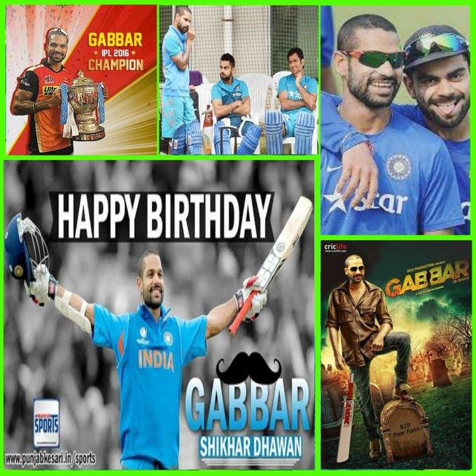 # Happy Birthday Shikhar Dhawan: Team India s Gabbar