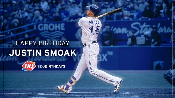 Just-in time to celebrate! to join us & in wishing All-Star Justin Smoak  a happy birthday!