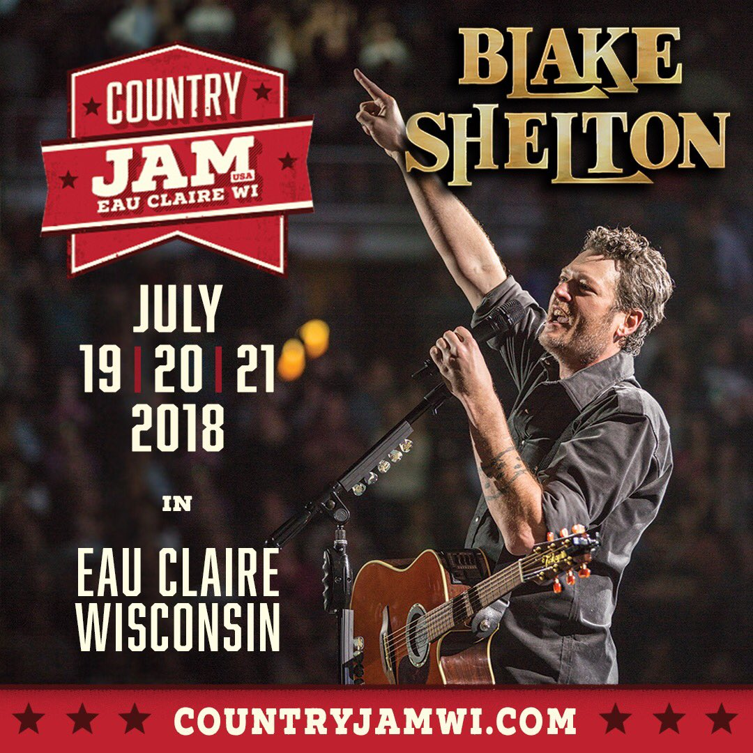 I told y'all I'd be back!! See y'all at @countryjam in Eau Claire, WI on July 21st! https://t.co/YNRRRwcRQK