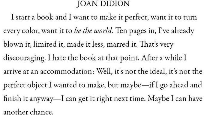 Happy Birthday, Joan Didion. I live my life on page 10.