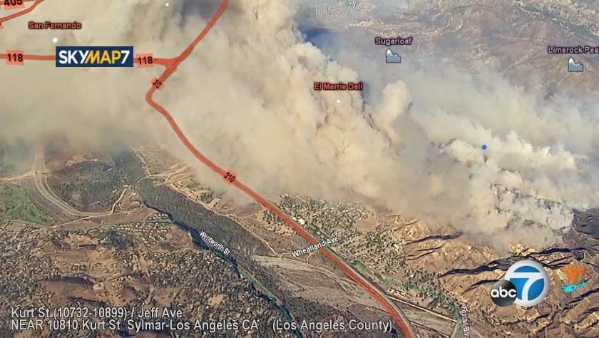 Watch Air7 Hd Over Growing Burning In Kagel Canyon Near Sylmar