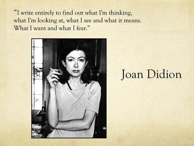 Happy Birthday to Joan Didion!