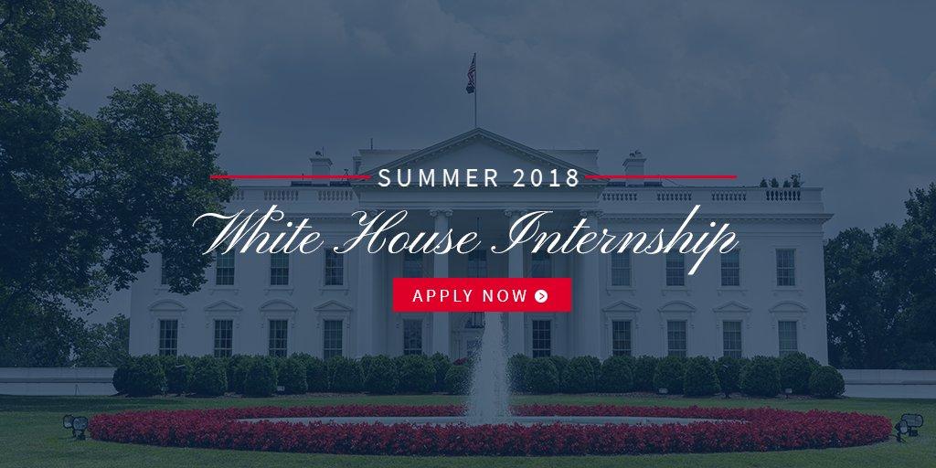 The application for the Summer 2018 White House Internship Program is open! Apply here: https://t.co/RZKMzupiVN https://t.co/ltICMZjwDP
