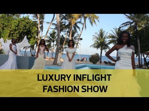 Luxury inflight fashion show