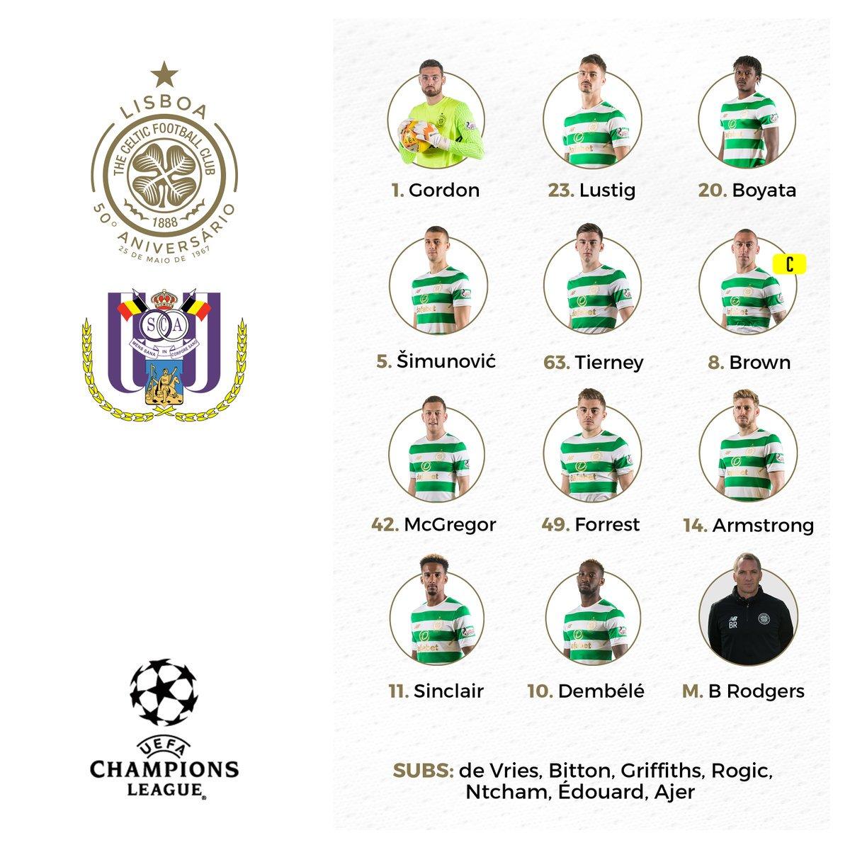 RT @SpheraSports: #UCL | XI del Celtic https://t.co/DvC4bDFZlJ