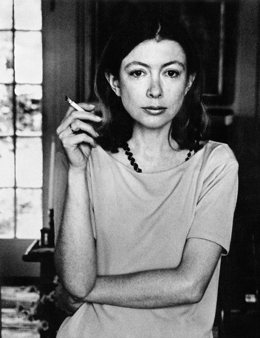 Happy Birthday to Joan Didion. We\re glad you\re here. Really glad.  (Photo via