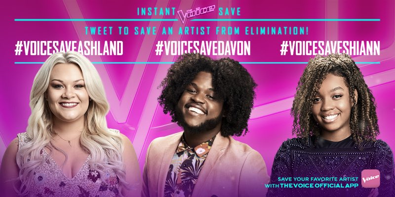 RT @AshlandCraft: RT to save me from elimination! #VoiceSaveAshland https://t.co/nNv5cE7Sms