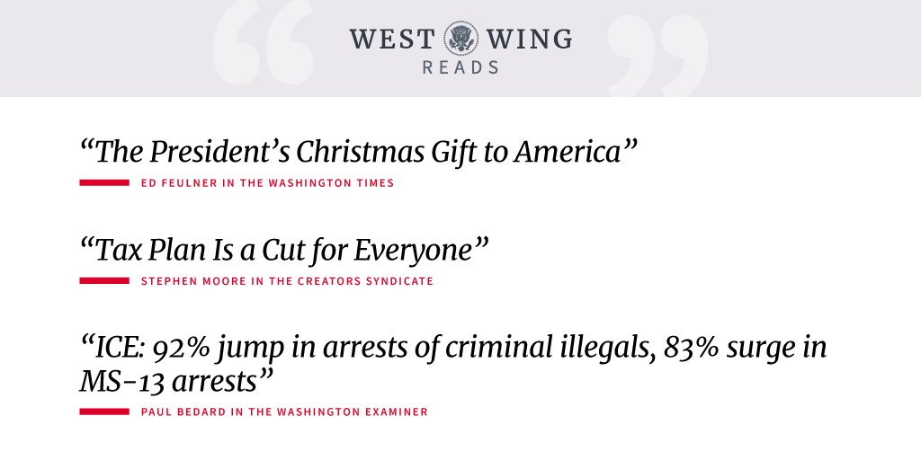 Here is what the West Wing staff is reading today: https://t.co/7ELh9AjgwW https://t.co/GYdyChsL95