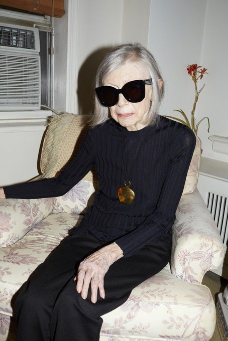 When will your fav be this goth. Happy birthday, Joan Didion. Sagittarius legend!